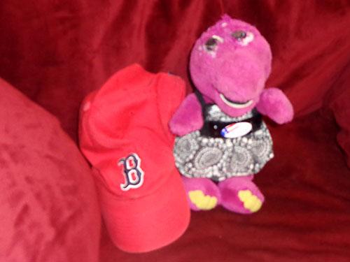 Barney arrives in Beantown
